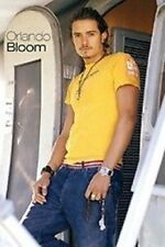 ORLANDO BLOOM ~ YELLOW T-SHIRT 24x36 POSTER Pirates Legolas Troy NEW/ROLLED!