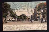 102102 AK Mannheim Schwetzingerstrasse 1902 Uhr Straßenbahn
