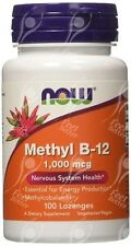 Now Foods, Methylcobalamin Vitamin B12, 1000mcg x100 Lozenges