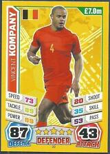 TOPPS MATCH ATTAX  BRAZIL 2014 WORLD CUP- #020-BELGIUM-VINCENT KOMPANY