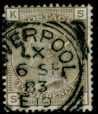 SG160, 4d grey-brown plate 18, used. Cat £75.