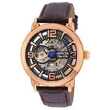 Invicta  Objet D Art 22609  Leather Chronograph  Watch