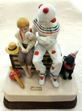 "Norman Rockwell Musical Figurine Painted Bisque Porcelain ""The Runaway"" Nos Nib"