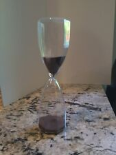 """Brown Sand Hourglass Timer 11"""" Tall 30 Minute Hour Glass Timer"""