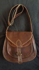 Vintage Style Brown Leather Messenger Crossbody Handmade Saddle Bag