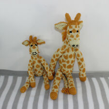PRINTED PAPER INSTRUCTIONS- CUTE MOTHER AND BABY GIRAFFE TOYS KNITTING PATTERN