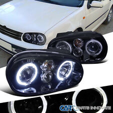 New!! Glossy Black For 1999-2006 Golf GTI R32 Mk4 Smoke Halo Projector Headlight