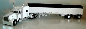 DCP WHITE PETERBILT 389 70 RAISED ROOF HIGH SIDE SPREAD AXLE GRAIN 1/64 60-0805