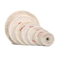 "4""~14"" Soft Cloth Polishing Wheel Buffing Pad 50 Ply for Jewelry 5/8"" Bore White"