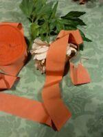3m x5cm galon rose saumon ,chapeaux canotiers paille ,couture etc...