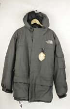 Mens NORTH FACE Jacket Coat ARCTIC COLD Hooded PUFFER Grey Large EXCELLENT DN2RL