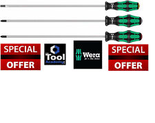 Wera Tools Screwdriver Set 3Pce Extra Long 300mm Blade PH2 PZ2 Slotted 5.5mm