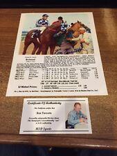 Secretariat - Ron Turcotte Signed Triple Crown Belmont Photo w/ Picture COA