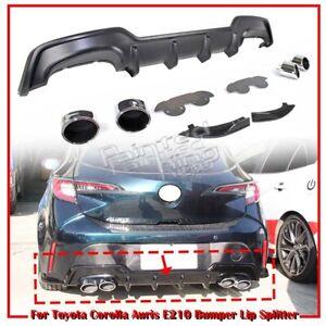 Unpaint Fit For TOYOTA Corolla Auris E210 5D Bumper Diffuser + Dual Exhaust Tip