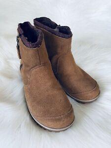 Sorel Meadow Zip Pull-On Waterproof Boots Tan Brown Suede 8.5 US NL2189-287