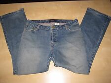 Levi's Slim Bootcut Low Rise Destroyed Button Fly Blue Jeans Denims Size 15M/32