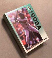 50) SAMMY SOSA Chicago White Sox 1992 Fleer Baseball Card #98 LOT