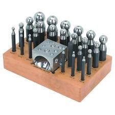 New 24 pc Set Precision Jewelry Shaping DAPPING PUNCH SET / Doming Block,