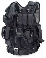 Black Tactical Vest Military Swat Molle Carrier Combat Training Airsoft Paintbal