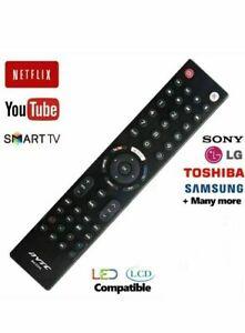 Universal Remote TV Control LG Sony Toshiba Samsung + Smart TV 3D LCD LED HD TV