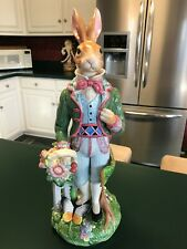 Fitz And Floyd Old World Rabbit Large Male Rabbit Figurine Absolutely Gorgeous!