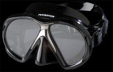 Atomic Aquatics subframe mask scuba snorkel equip gift diver Blak/Black MEDIUM