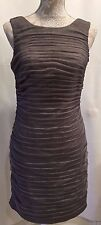 Adrianna Papell Evening Sleeveless Ruched Sheath Sexy Cocktail Party Dress Sz 6