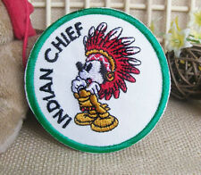 Mickey Mouse American Indian Chief Embroidered Iron On/Sew On Patch