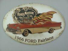 Plaque en Tôle,de Publicité 1966 Ford Fairlane,Automobile Panneau Mural 33x50 CM
