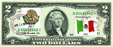 $2 DOLLARS 2009 STAR FLAG & COATS OF ARMS MEXICO LUCKY MONEY VALUE $500