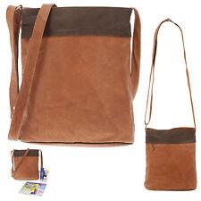Handtasche CININO 2 SHADE Ledertasche Leder Schultertasche 1465 Tasche COGNAC