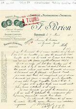 Dépt 37 - Chateaurenault - Petite Entête Spécialité de Pulvérisateurs de 1906