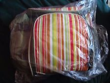 New listing Green Striped Travel Cooler Picnic Camper Bag w/ Utensils & Plates for two New
