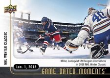 NHL WINTER CLASSICS RANGERS TOP SABRES IN OT 2017-18 UD GAME DATED MOMENTS #31
