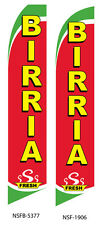 TWO  Birria 15 Foot Swooper Feather Flag Sign
