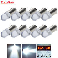 10 x BA9S T11 T4W Bayonet LED Light Bulbs For Interior Dome Map Lamp 12V White