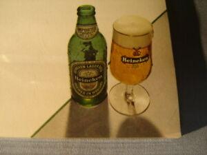 100 Vintage 1960s 70s Heineken Blank Menus Retro Mod Man Bar Cave