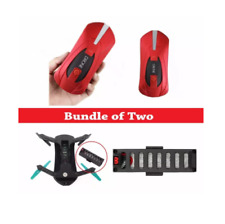 COMBO PACKAGE: JY018 Portable 0.3 MP HD Camera Pocket Drone (Red) + Spare Batter