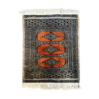 Antique Persian Wool Entryway Prayer Rug from Pakistan 2x2