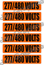 277-480 Volts Voltage & Conduit Markers | Stickers | Decals | Volt Labels
