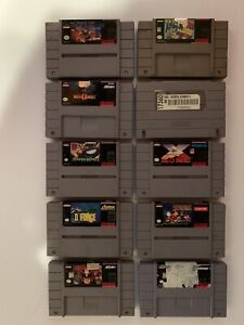 SNES LOT OF 10 - ALL TESTED AND WORKING.