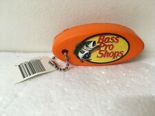 "Bass Pro Shops COLLECTIBLE FLOATING KEY CHAIN Orange ""IS THE PLUG IN?"""