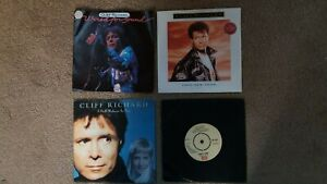 """Cliff Richard - 4 x 7"""" Singles - Wired For Sound, This New Year + 2 others"""
