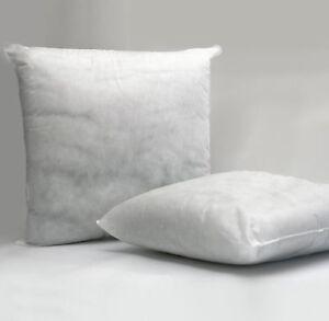 Soft White Square  Hollowfibre Scatter Cushion Pad Insert Filler Inner Pads