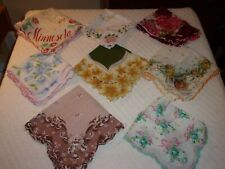 8 Vintage 50's 60's Hankies Hanky Handkerchiefs Nice Assortment Scalloped Edge J