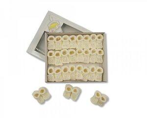 Baby Crochet Booties - Cream - 1 Pair - 300c