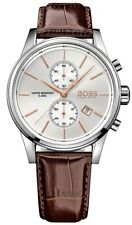 Hugo Boss HB1513280 JET 41mm Brown Leather Strap Men's Chronograph Watch