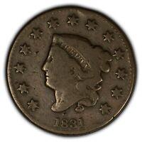 1831 1c Coronet Head Large Cent SKU-Y2426