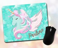 Personalized Unicorn Mouse Pad Vivid Mouse Pad Fun Bright Gift Pattern