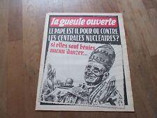 JOURNAL BD LA GUEULE OUVERTE 47 pape pour nucleaire si benies1975 di marco